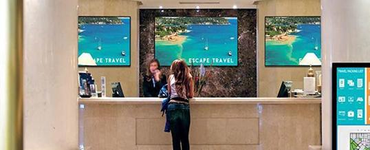 Hotel Digital Signage display